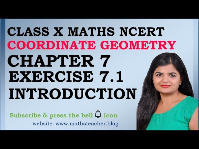 Chapter 7 Coordinate Geometry Ex 7.1 Introduction class 10 Maths