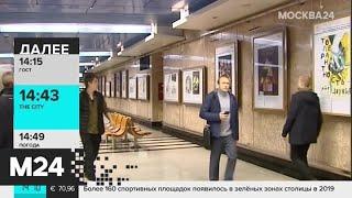 Смотреть видео Выставка социальных плакатов открылась в столичном метро - Москва 24 онлайн