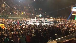 WWE Wembley Fatal 4 Way Tag Entrances