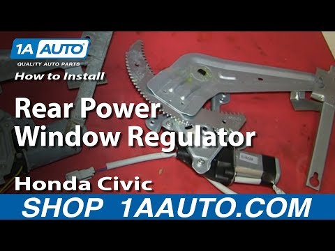 How To Replace Rear Power Window Regulator 96-00 Honda Civic