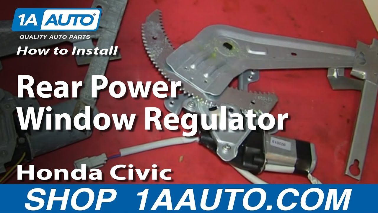 how to install replace rear power window regulator 1996 00