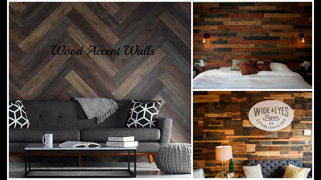 Wood Accent Wall   Pallet Wall Ideas - YouTube