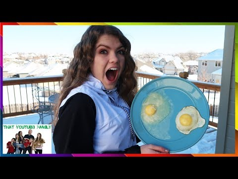 Cold Weather Science Experiments - BOILING WATER TURNS TO SNOW / That YouTub3 Family
