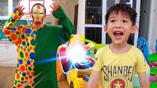 Xavi pretend play Basketball - Sport video for kids, children and babies