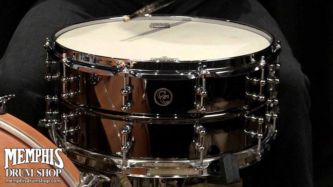 c c custom 14 x 6 5 black chrome over brass snare drum with tube lugs youtube. Black Bedroom Furniture Sets. Home Design Ideas