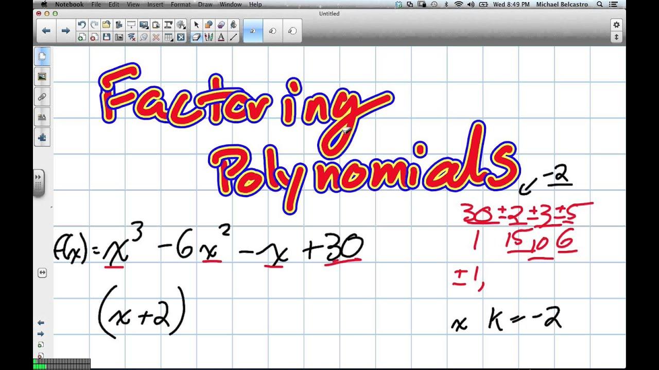 Factoring trinomials worksheet grade 10