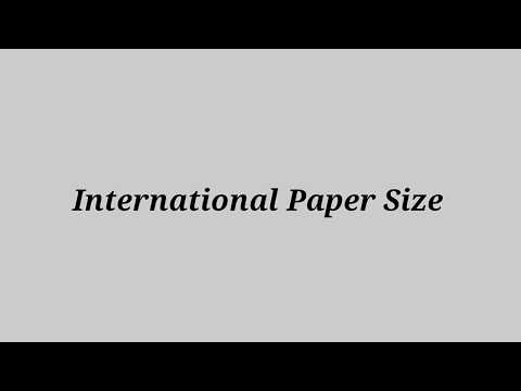 What are International Paper Size || Size of Paper/Sheet A0, A1, A2, A3, A4, A5, A6, A7 || Papers