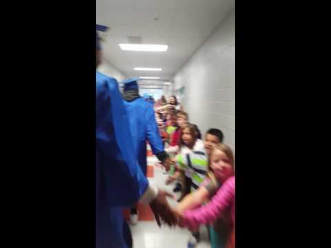 Senior Walk at Castle Hayne Elementary School