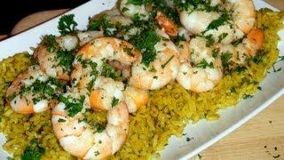 Mariah Milano's Caribbean Beer Braised Spicy Shrimp!