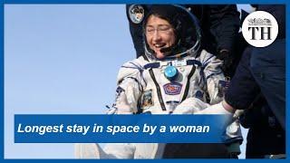 Longest stay in space by a woman