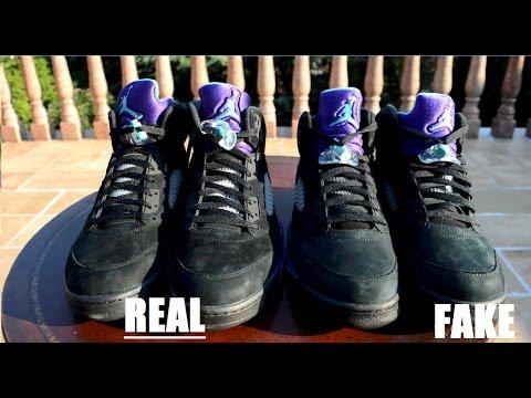 Air Jordan 5 V Black Grape REAL VS FAKE COMPARISON - YouTube 333e2772f1
