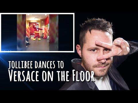 Jollibee dances Bruno Mars' Versace On The Floor | REACTION