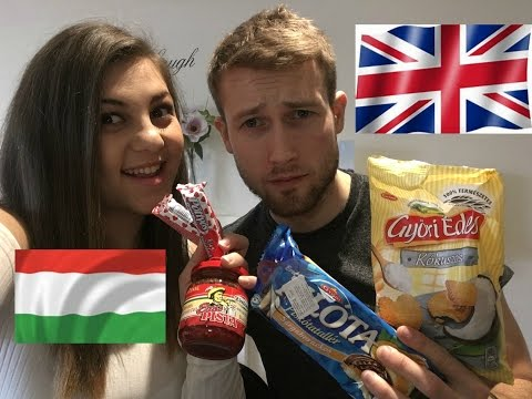 My English  Boyfriend Tries Hungarian Food! Az Angol Baratom Magyar Eteleket Kostol!