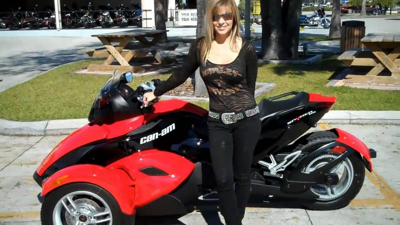 Can Am Car >> 2010 CAN-AM SPYDER TRIKE 3 wheeler three Tampa Florida USA - YouTube