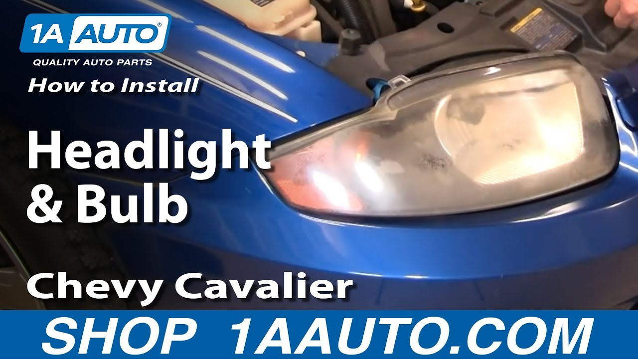 2002 Chevy Silverado Headlight Wiring Diagram How To Install Replace Headlight And Bulb Chevy Cavalier