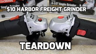 Teardown: Harbor Freight $10 Drillmaster angle grinder review and shootout