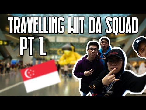 Singapore travel vlog with the squad day 1 part 1