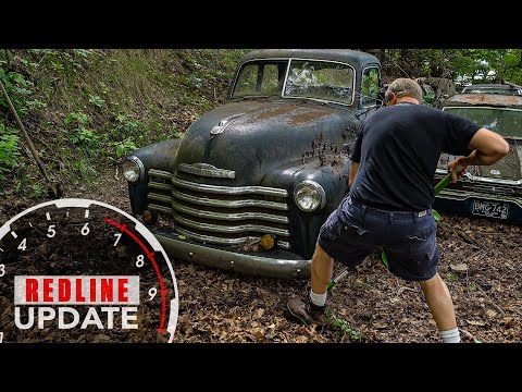 Unearthing our next project, a 1950 Chevy truck   Redline Update #23