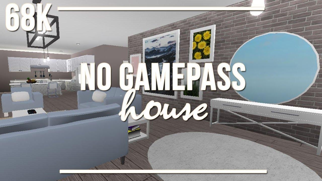 Roblox Welcome To Bloxburg No Gamepass House 68k