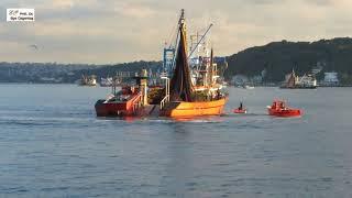 Boğaz'da avlanan balıkçı tekneleri. Fishermen in Bosphorus.