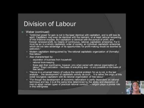 Week 3 Classical Theories of Capitalism and Industrial Society