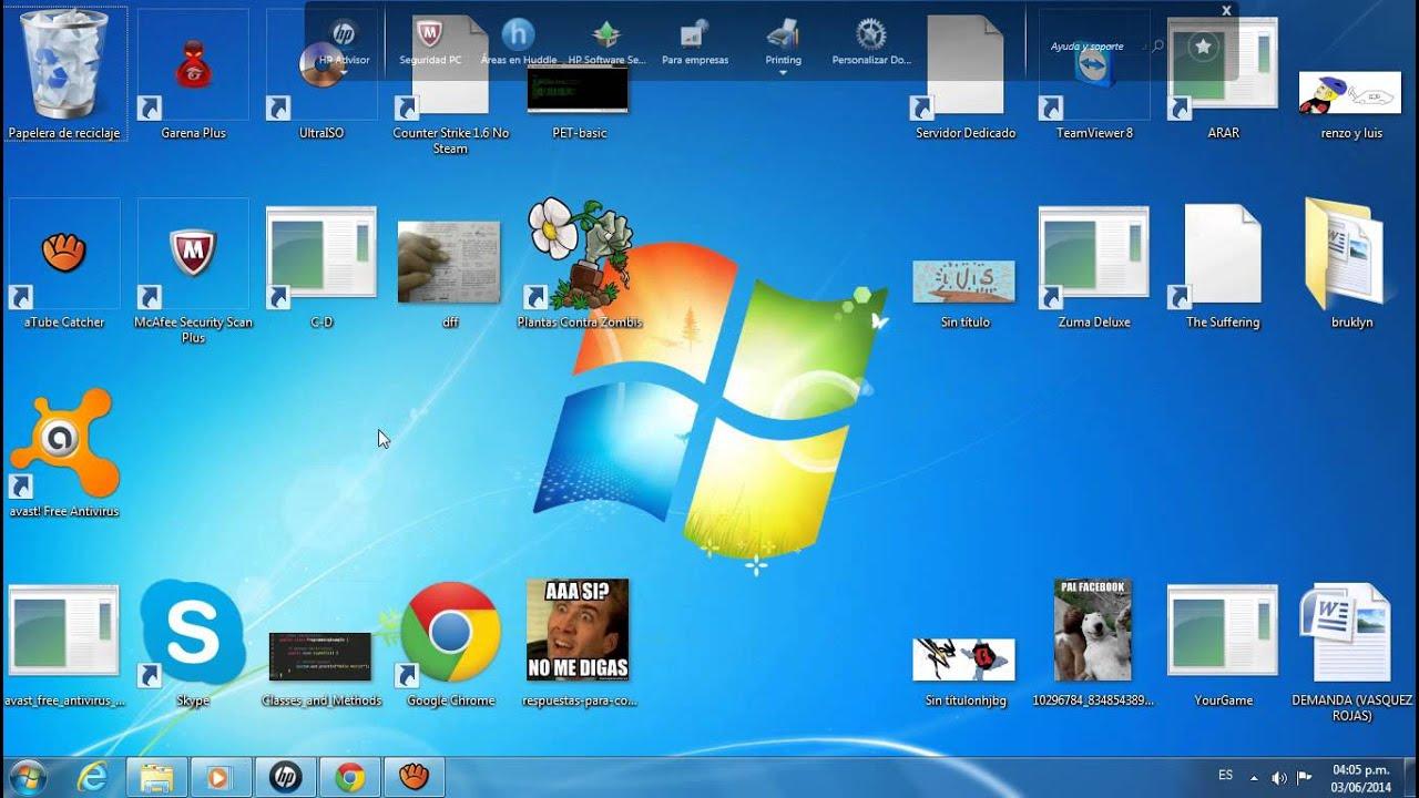 Como cambiar el tama o de los iconos de escritorio barra - Iconos para escritorio windows ...