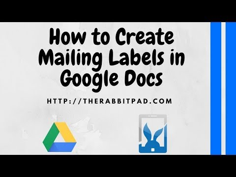 How to Create Mailing Labels in Google Docs - YouTube