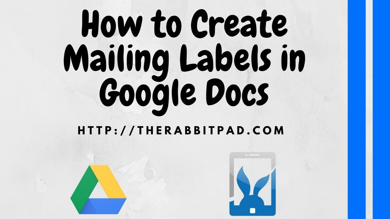 How To Create Mailing Labels In Google Docs Youtube