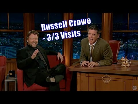 Russell Crowe  ARE YOU NOT ENTERTAINED?!  33 Visits In Chronological Order