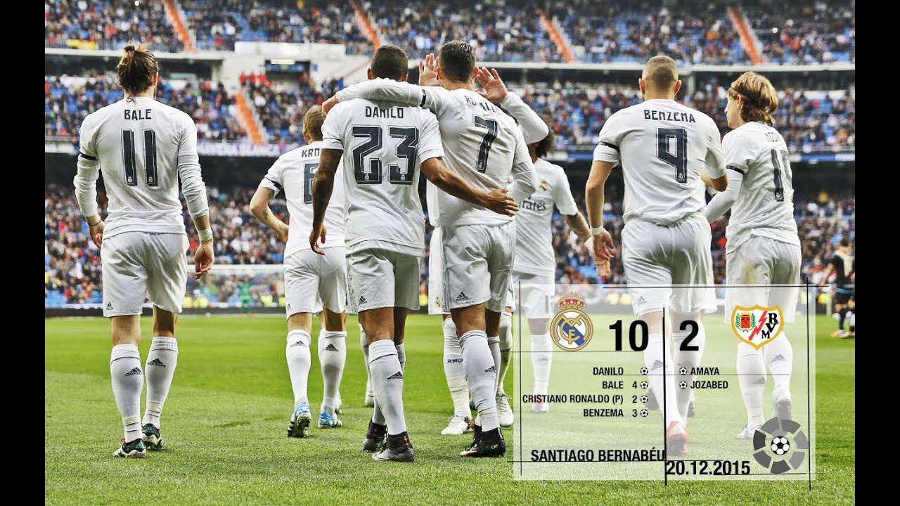 Download Real Madrid 10-2 Rayo Vallecano (La Liga 2015/16, matchday 16)
