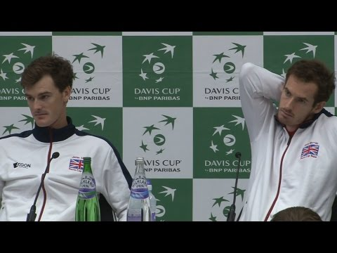 Andy & Jamie Murray Press Conference After Doubles Win Over Argentina