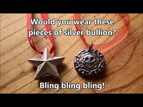 Wearable Silver Bullion - would you wear these bling bling silver pendants?