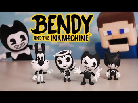 Bendy and the Ink Machine Mini Action Figure Pack Series 1 BATIM PhatMojo Stop Motion Unboxing