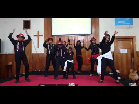 Little kids dance for Tamil songs - OCBC Church Auckland Christmas event 2015