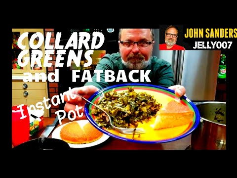 COLLARD GREENS In The INSTANT POT With PORK BELLY SALT PORK FAT BACK Electric Pressure Cooker