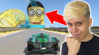SOBREVIVA NA MEGA RAMPA DO MINION GIGANTE NO GTA 5!!