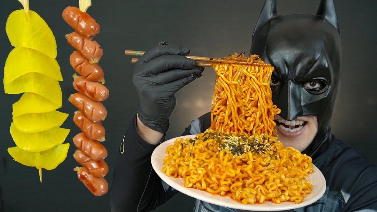 불닭볶음면 & 비엔나소시지 & 단무지 먹방 MUKBANG FIRE NOODLE & SAUSAGE & PICKLED RADISH ASMR EATING SHOW