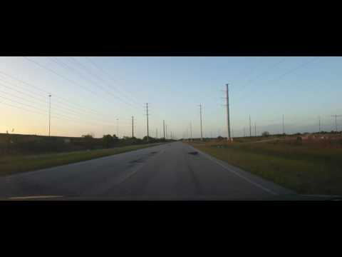 Driving in Rural Hardee and Polk Counties - Florida