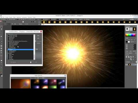 super nova flux --  creating animated flares and stars for video backgrounds