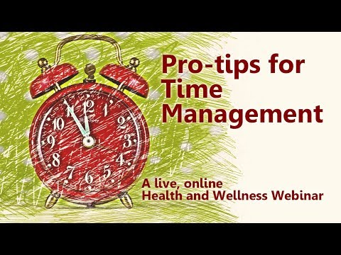 Pro-tips for Time Management