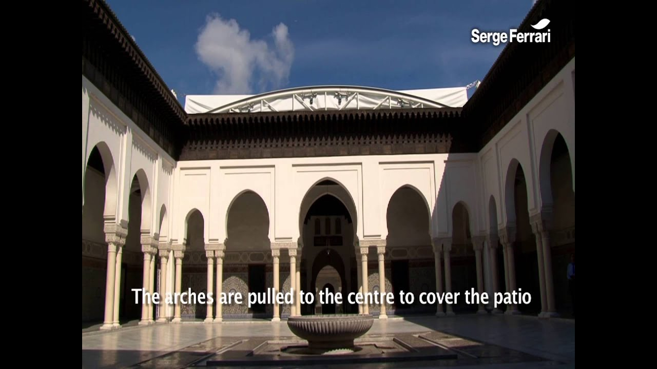 Retractable Roof Central Patio In The Great Mosque Of