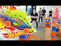 EPIC Chain Reaction Paint Blast! | Fast Track | Hot Wheels