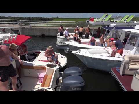Boaters Pass Through the Pinopolis Lock for Parker Miracle House Foundation