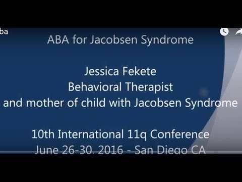 ABA for Jacobsen Syndrome - 2016 11q Conference
