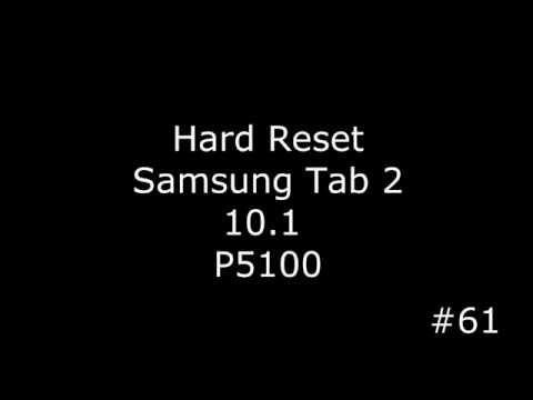 Сброс настроек Samsung Tab 2 10.1 P5100 (Hard Reset Samsung Tab 2 10.1 P5100)