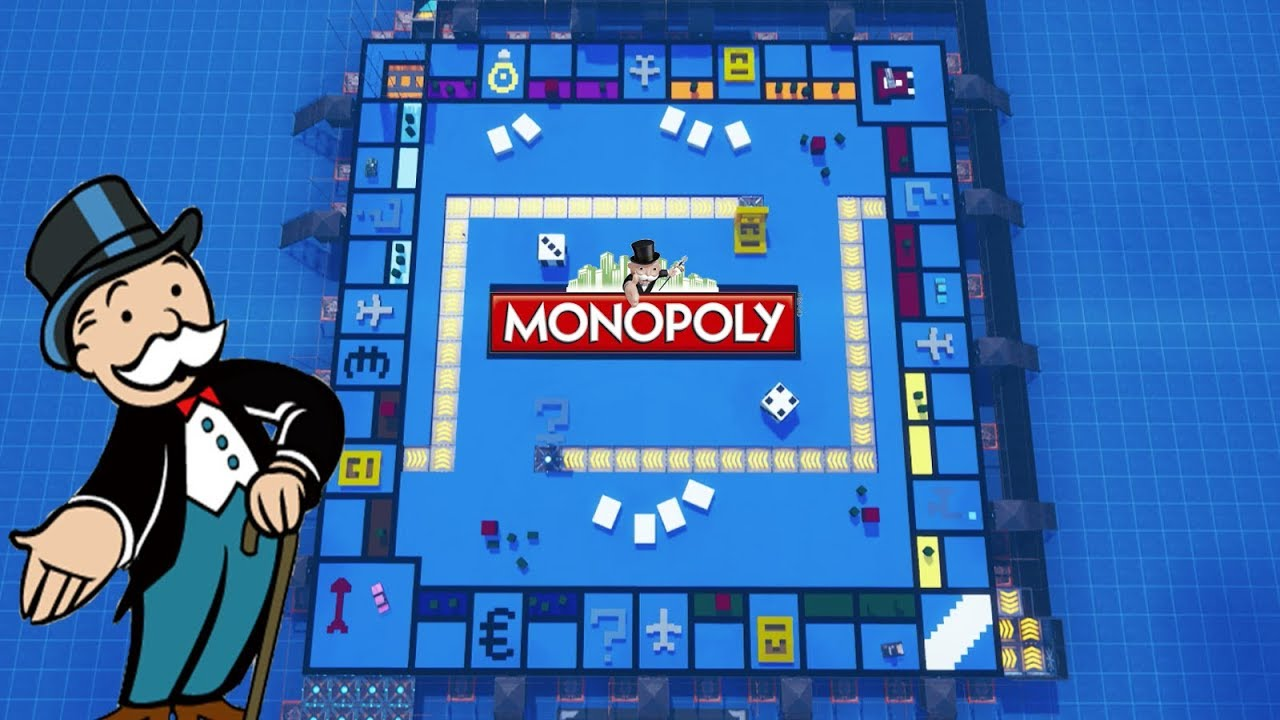 someone built the monopoly board game in fortnite creative