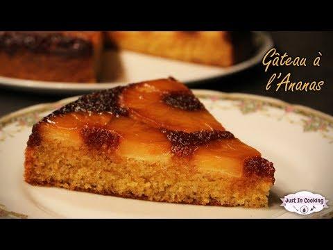 recette-de-gâteau-à-l'ananas-caramélisé