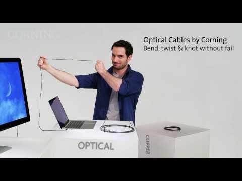Los cables ópticos con los que Corning quiere un USB de 5 Gbps