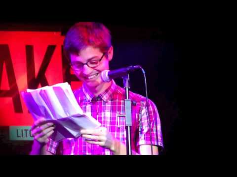 What if God had a girlfriend? Simon Rich performs at Literary Death Match.