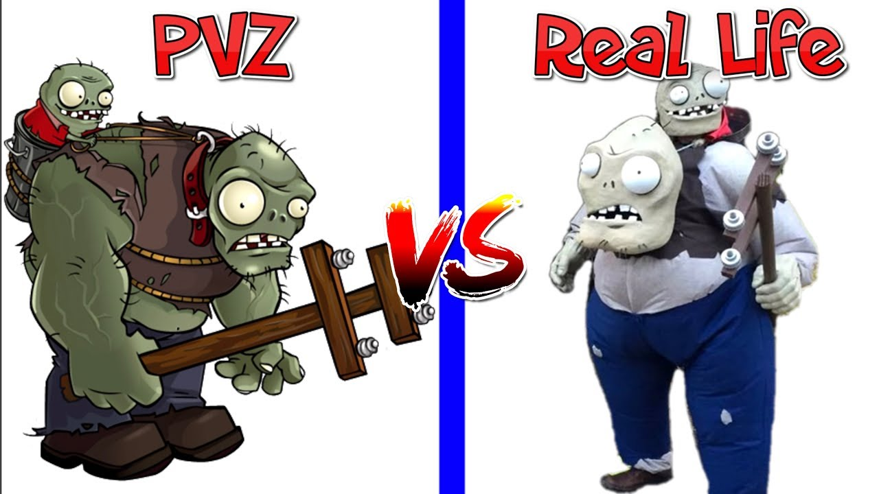 Plants Vs Zombies All Characters In Real Life Youtube